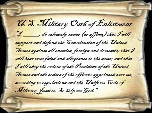 U.S. military oath of enlistment