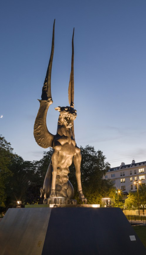 """Named She Guardian, this statue is already dubbed the """"most terrifying statue in London"""""""